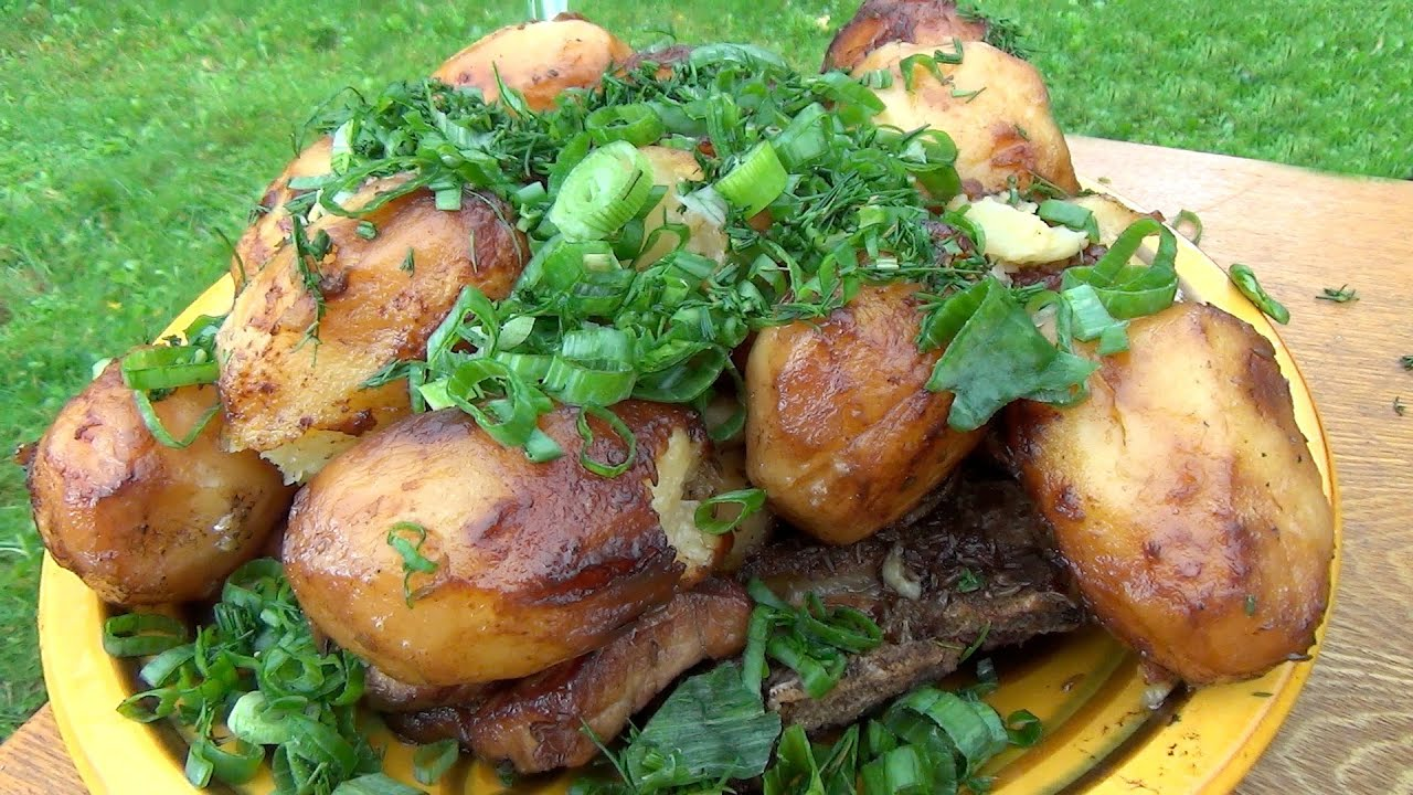 как приготовить в казане мясо с картошкой