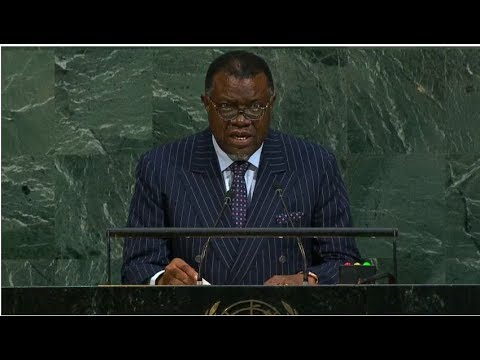 Namibia - President addresses the 72nd United Nations General Assembly