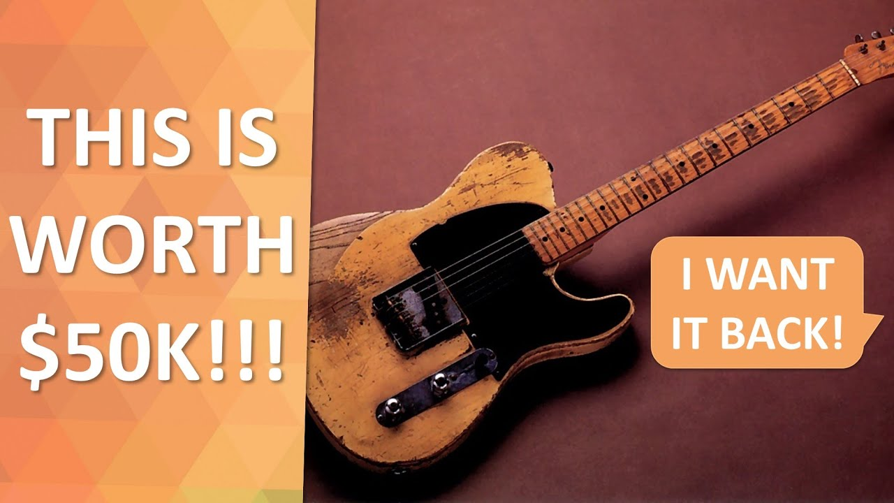 Fender Telecaster turns out to be worth $50k! But I sold it for $4k... Can I have it back!