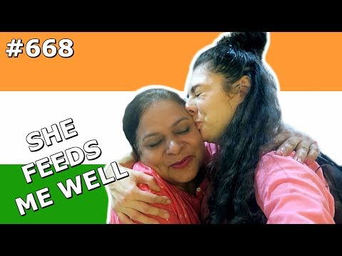 AUNTYS INDIAN FOOD IS THE BEST DELHI DAY 668 | TRAVEL VLOG IV