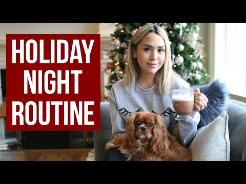 HOLIDAY NIGHT ROUTINE! HOT COCOA, GIFT IDEAS, PARTY LOOK!