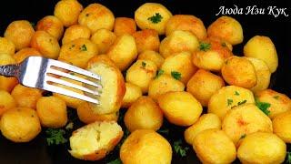Жареная ЧЕСНОЧНАЯ КАРТОШКА аппетитный ароматный картофель Просто и Вкусно Люда Изи Кук картофель