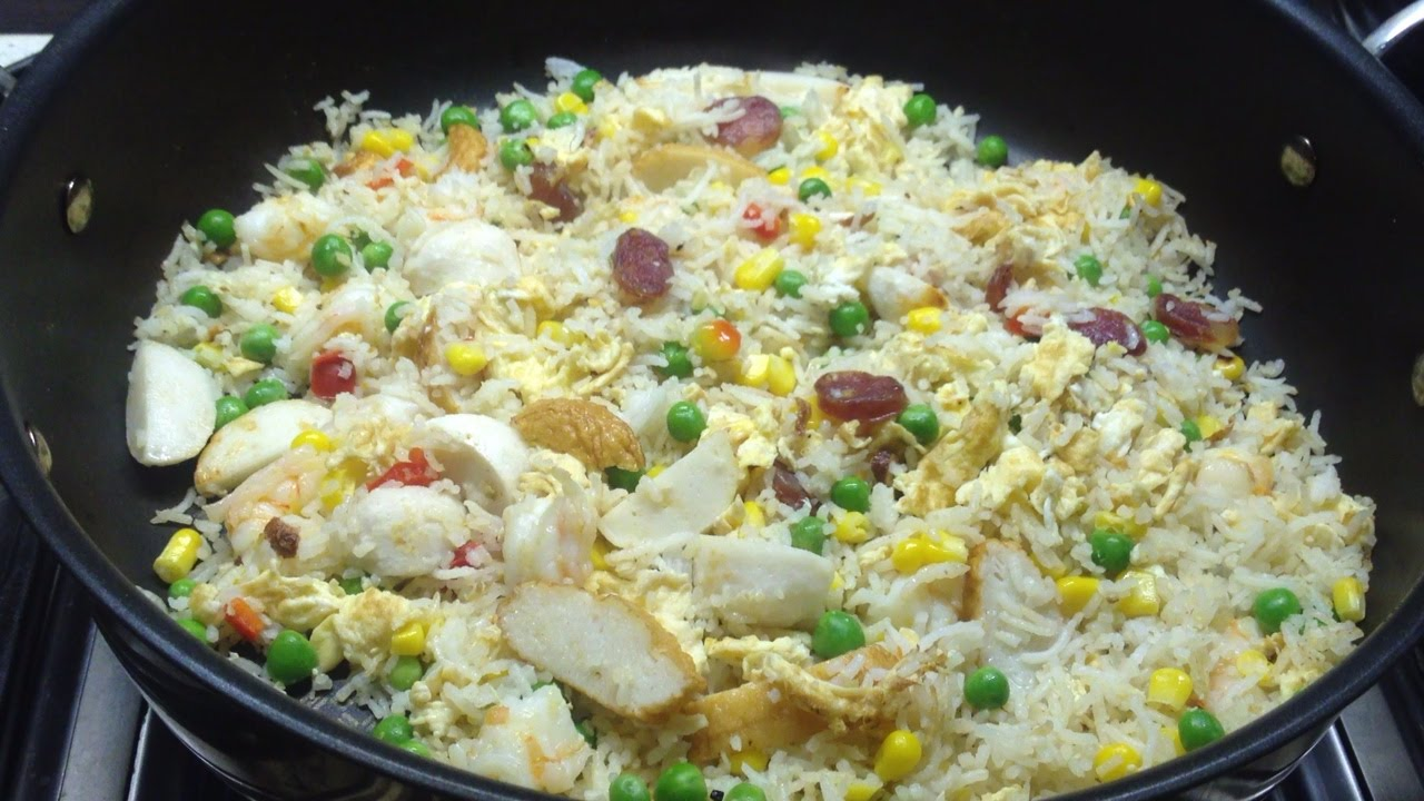 how to prepare egg fried rice in telugu