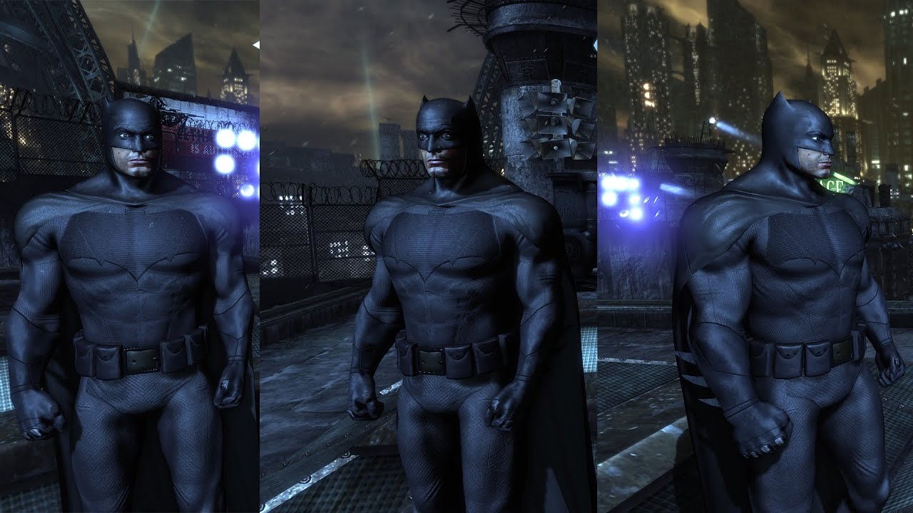 batman arkham city skin mod batfleck youtube