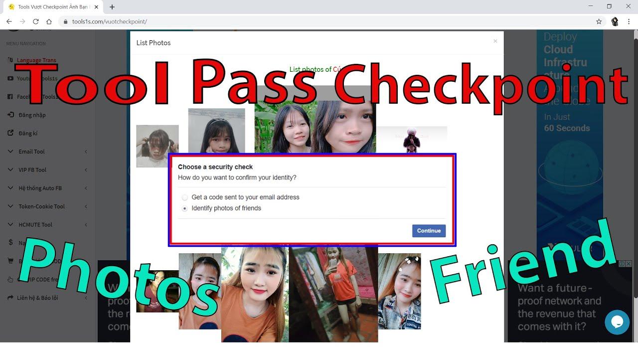 💥Tool Vượt Checkpoint Ảnh Bạn Bè Tự Động 99%   Xác định ảnh bạn bè Facebook quá đơn giản