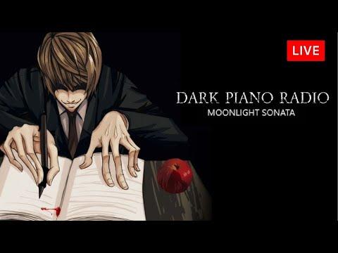 8 Hour of Dark Piano Radio - Dark Writing Inspiration   Dark Reading/Study