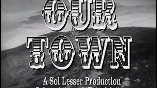 OUR TOWN 1940 Faux Trailer