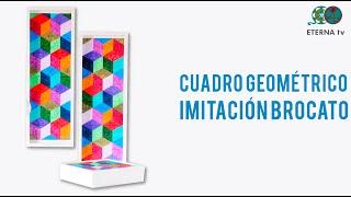 Cuadro geométrico Imitación Brocato | Lidia Gonzalez Varela en Manos a la O