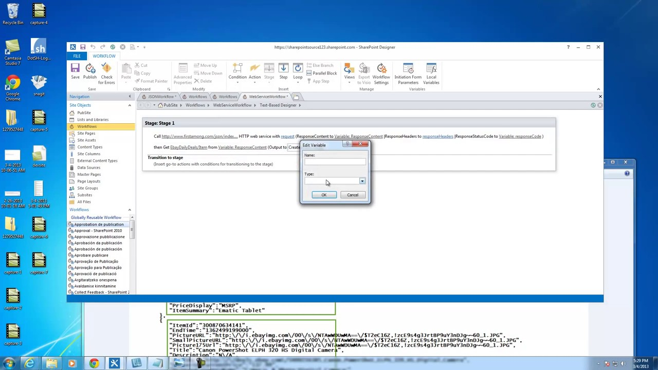 Sharepoint Designer 2013 Workflow Action Call Http Web Service Part 1 Youtube