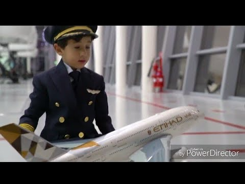 The Amazing 6 Year old Adam Become Etihad AirBus A380 Pilot for a day 👍👍😇