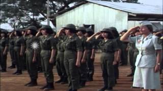 US WAC Advisors Major Kathleen Wilkes and Betty Adams with the Vietnam Women