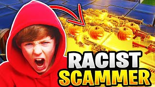 Racist Noob Scammer Scams His Whole Inventory! (Scammer Gets Scammed) Fortnite Save The World