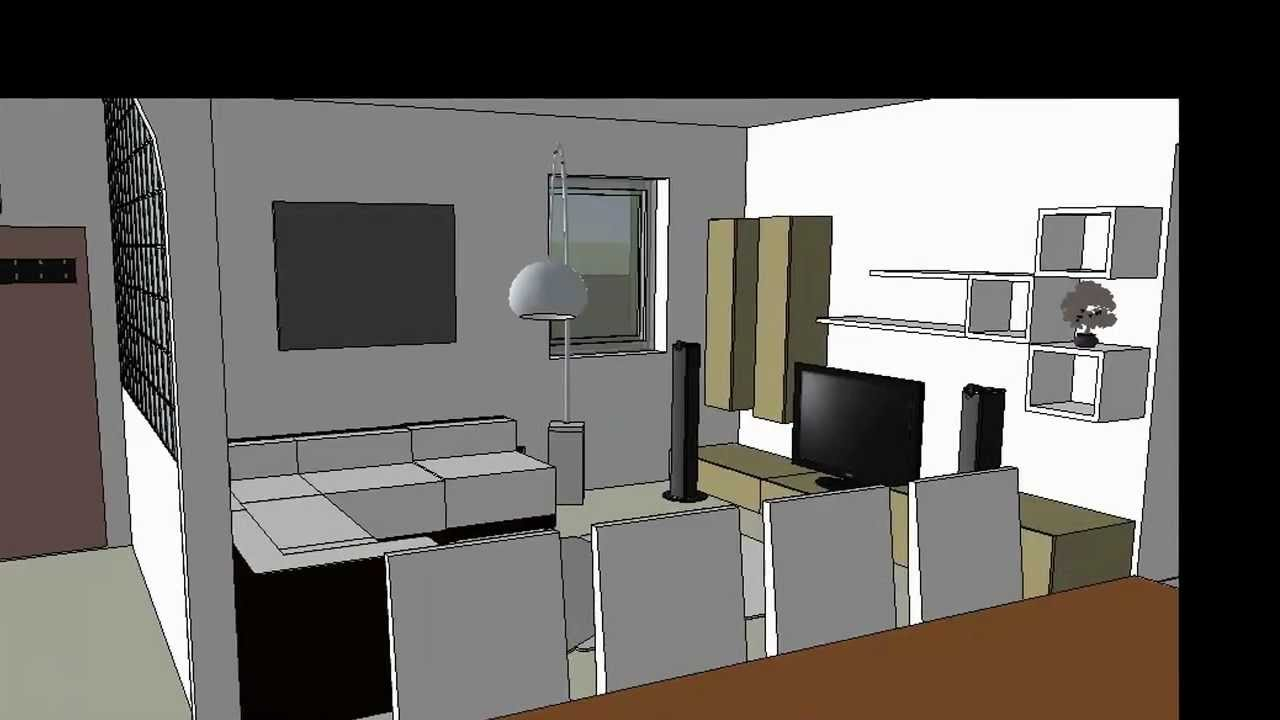 Restaurant Interior Design Sketchup : Interior design google sketchup youtube