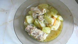 Курица с кабачками и картофелем.Быстро и вкусно