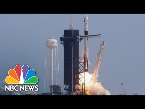 Watch: SpaceX Falcon 9 Rocket Launches 60 Satellites Into Orbit   NBC News