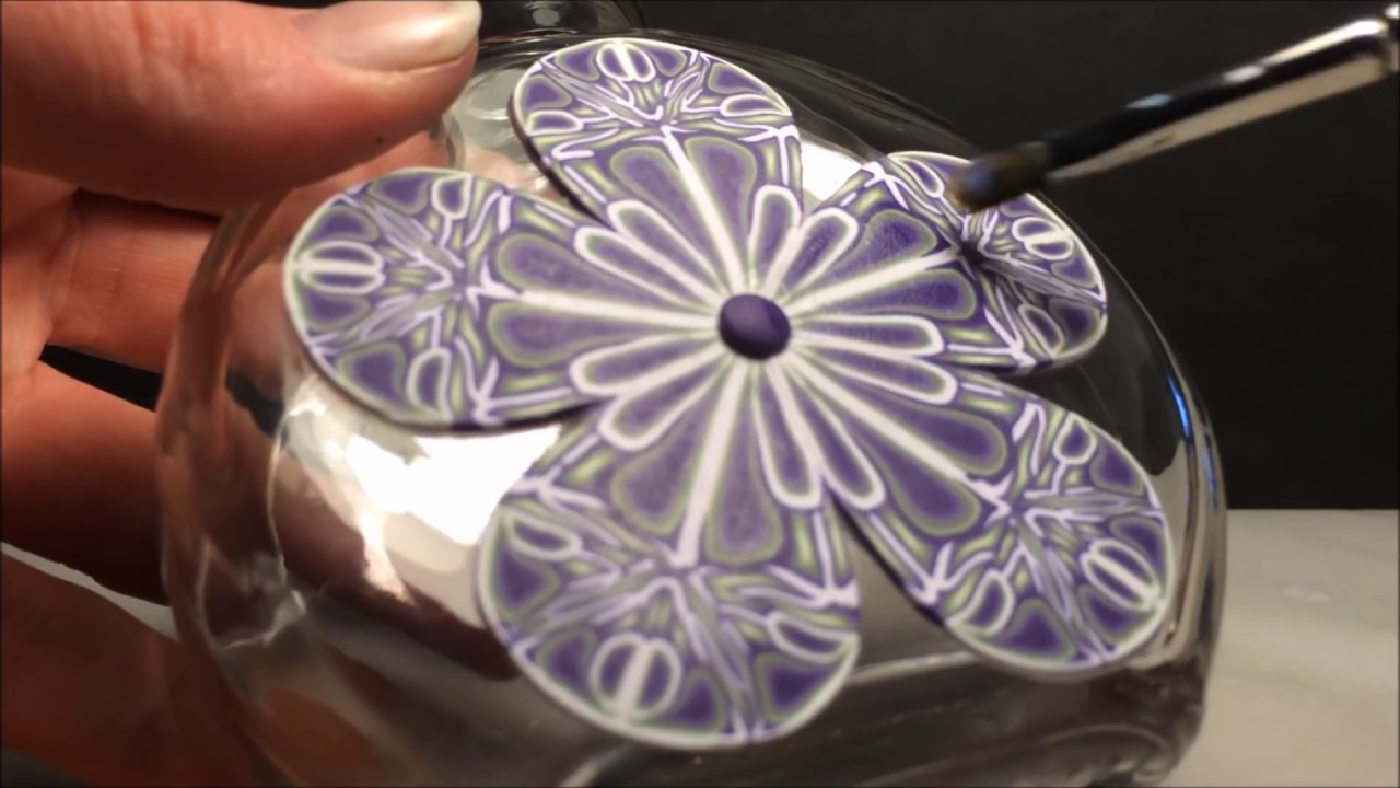 how to use polymer clay on glass