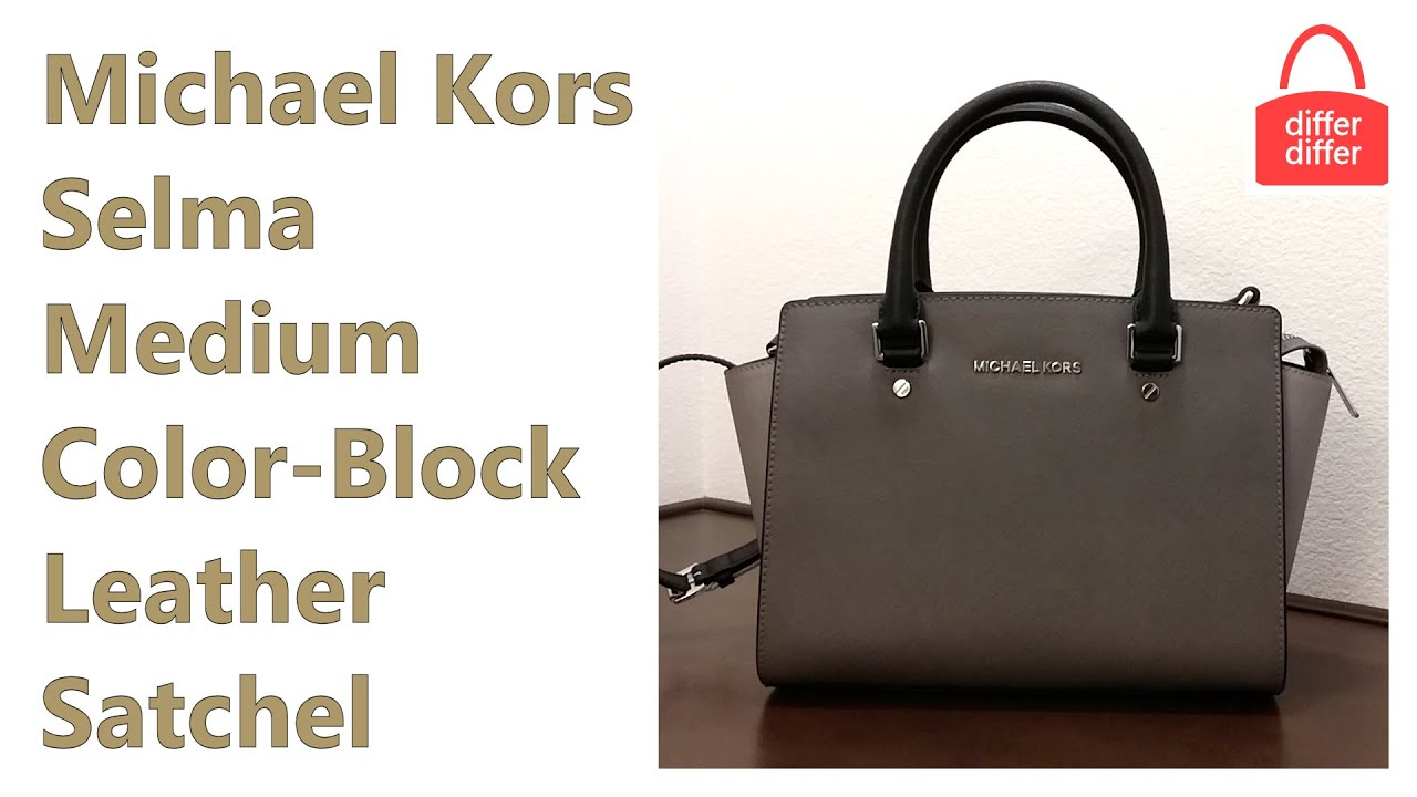 5fe967b77ba4 michael kors selma colorblock medium red orange bag - Marwood ...