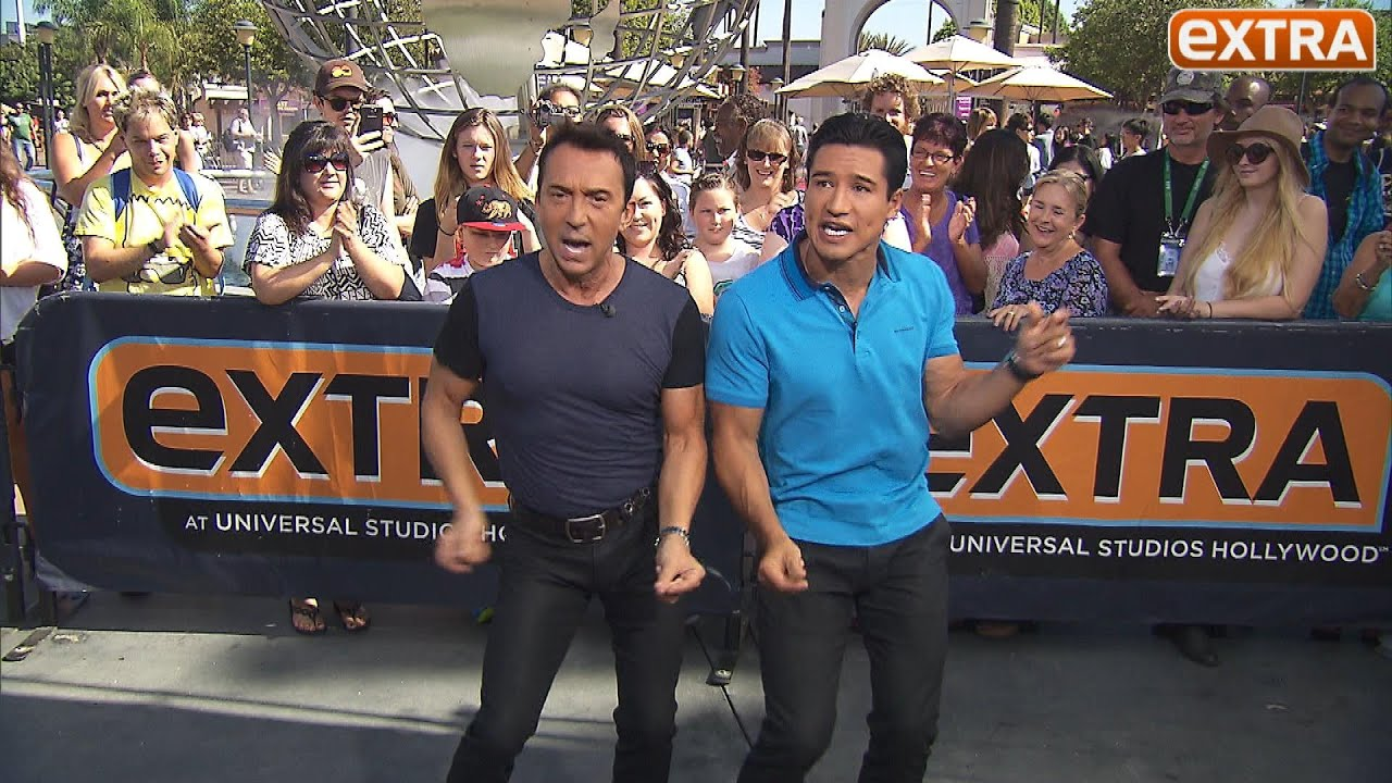 Photo of Bruno Tonioli & his friend tv-personality  Mario Lopez -