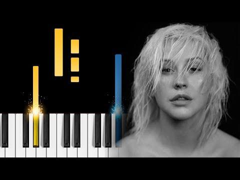 Christina Aguilera - Fall In Line (ft. Demi Lovato) - Piano Tutorial / Piano Cover