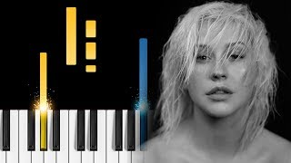 Christina Aguilera - Fall In Line (ft. Demi Lovato) - Piano Tutorial / Piano Cover Video