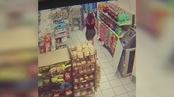 Surveillance video: Woman claims she found hidden camera inside gas station bathroom