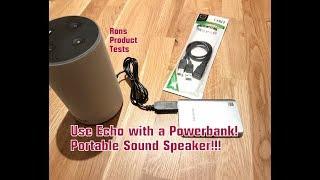 Amazon Echo MOBIL nutzen!!!! Alexa mit Akku Powerbank |15€ Kabel mit Powerbank verbinden