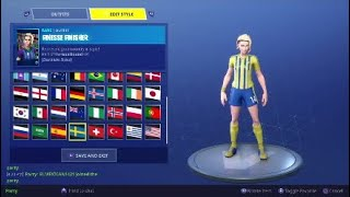 New Soccer Skins in Fortnite(CLINICAL CROSSER)