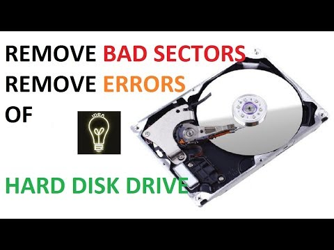 How to remove bad sector and errors of HARD DISK DRIVE by innovative ideas