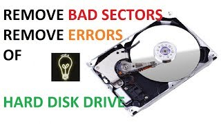 HOW TO REPAIR HARD DISK ( HDD ) PC Or Laptop clearing bad sector and errors