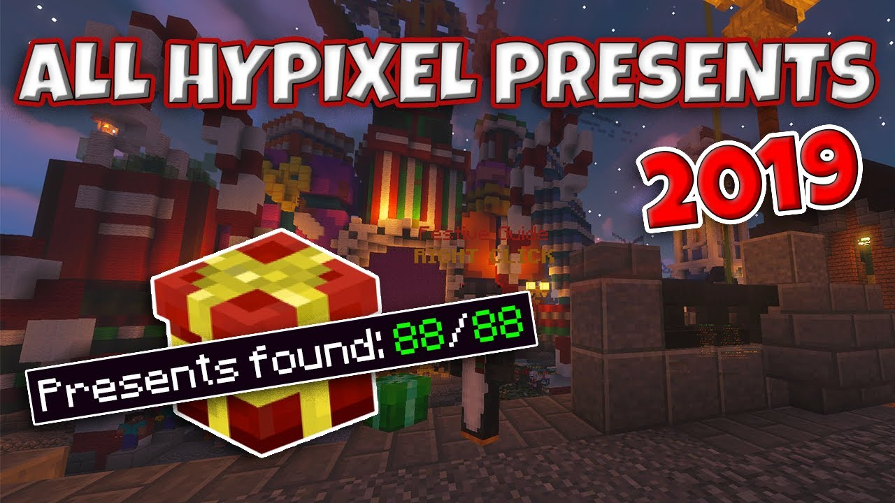 Youtube All Hypixel Christmas Presents 2020 All 88 Hypixel Presents (Christmas 2019)   YouTube