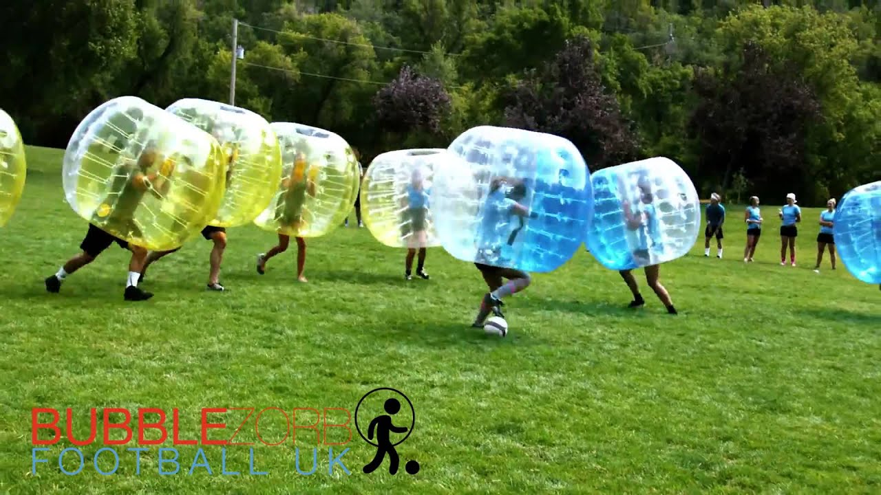 bubble zorb football uk football with real bounce back ability youtube. Black Bedroom Furniture Sets. Home Design Ideas