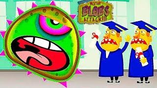 ХИЩНЫЙ СЛИЗЕНЬ на ВОЕННОЙ БАЗЕ Mutant Blobs Attack 8 мультик игра про злого СЛИЗНЯ МУТАНТА