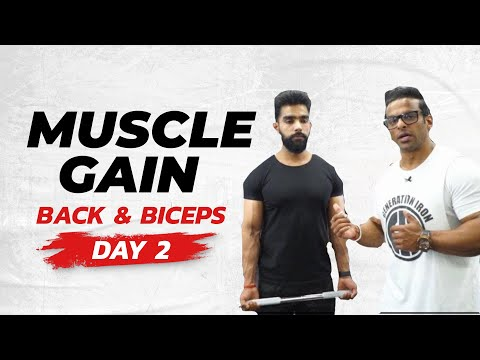 Full Week Workout Plan for Muscle Gain | Day 02 – Back & Biceps | Yatinder Singh