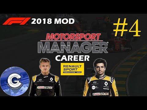 Let's Play Motorsport Manager F1 2018 Mod | Renault Career | E04 | F1 2018 Career Mode