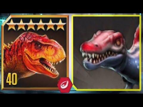 TYRANNOSAURUS REX Vs SPINOSAURUS - Jurassic World The Game Vs Jurassic Park Builder