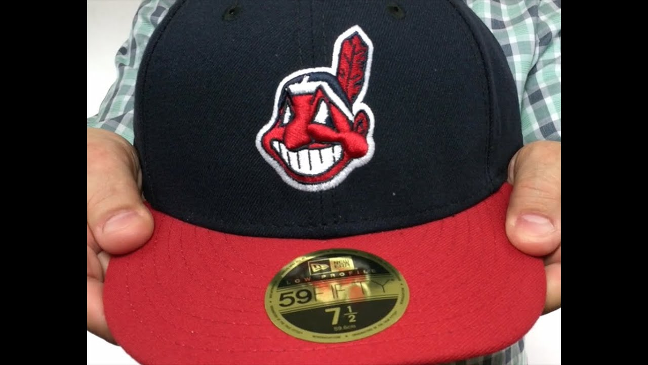 d3390345525 Indians  LOW-CROWN  HOME Fitted Hat by New Era - YouTube