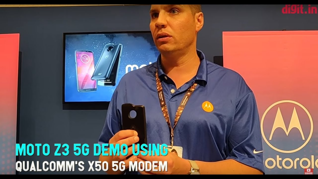 Moto Z3 5G Demo Using Qualcomm's X50 5G Modem | Digit in