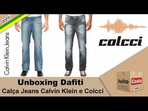 Unboxing Dafiti - Calças Jeans Calvin Klein e Colcci - YouTube e258201582f