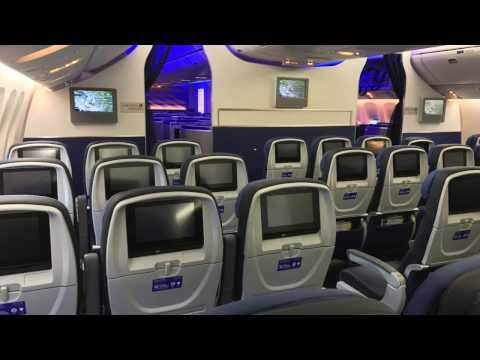 United Airlines BRAND NEW B777-300ER walkthrough