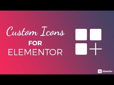 Custom Icons for Elementor