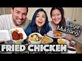 VEGAN FRIED CHICKEN & MAC N' CHEESE MUKBANG!!! (Eating Show)
