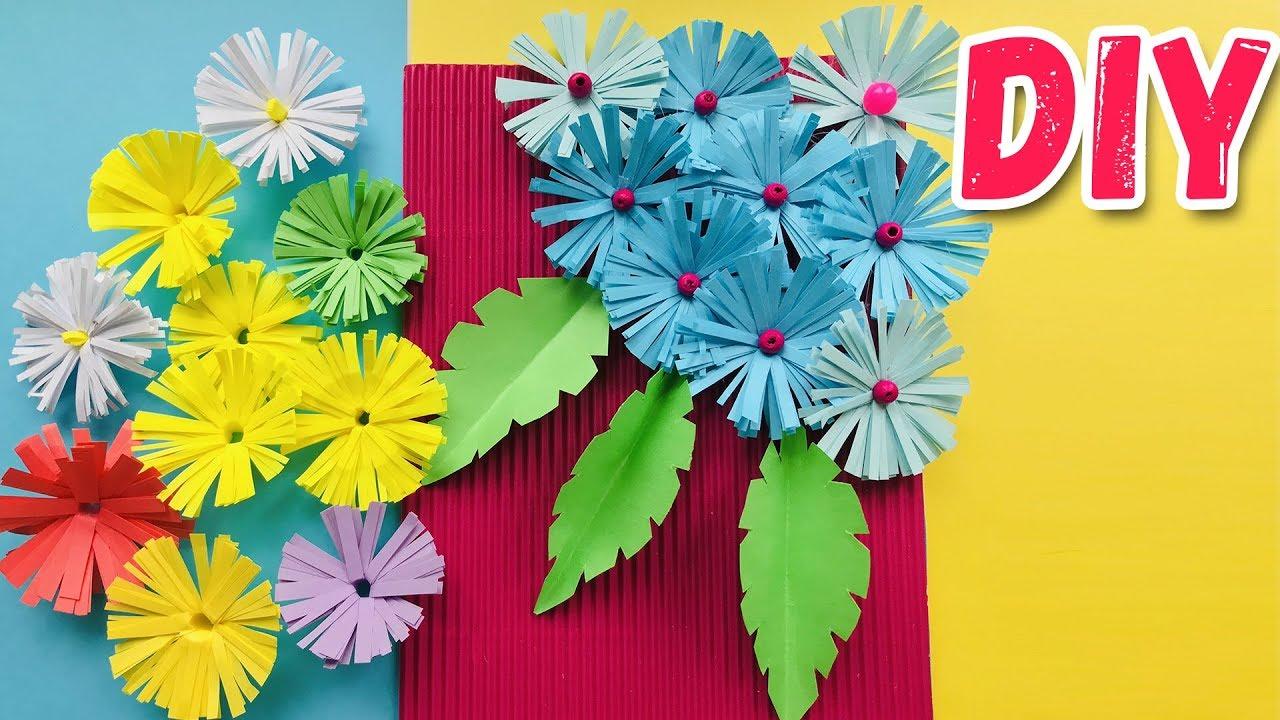 Открытка оригами с цветком