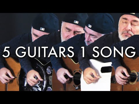 Five Guitars | One Song! (Greensleeves) | 5 Types Of Acoustic Guitars