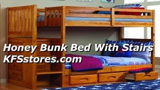 Honey Bunk Bed With Stairs - Kfsstores.com