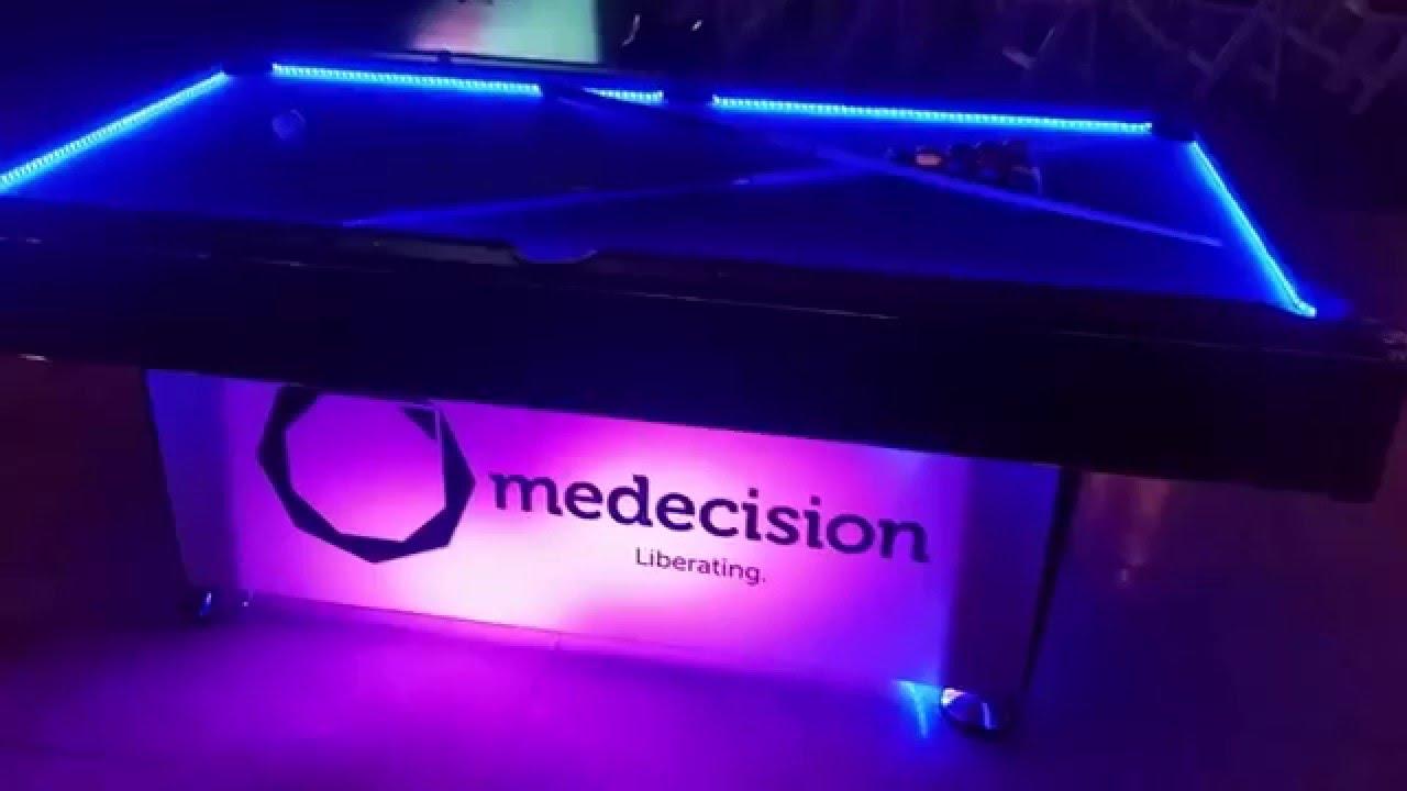 Custom Branded LED Light Up Pool Table Rentals   Serving Nationwide USA