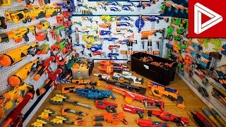 Top 10 CRAZY Nerf Gun Collections & Nerf Gun Arsenals!