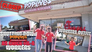 Gambar cover DRESSED UP AS A CHICK FIL A WORKERS AND SHUT DOWN A POPEYES! *They went crazy!*