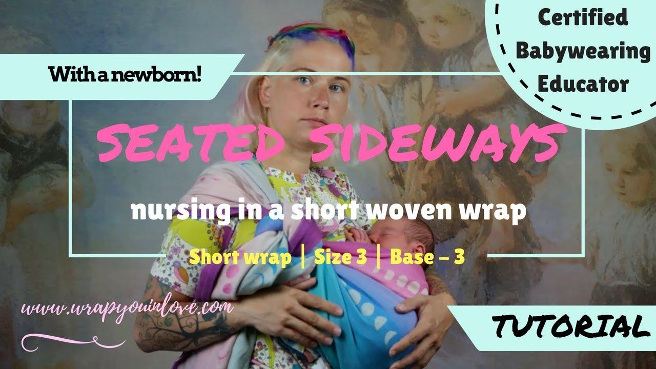bbe15cec076 Nursing in a short woven wrap - YouTube