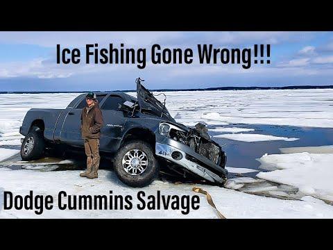 Ice Fishing Gone Wrong Cummins Mega Cab Dodge Salvage