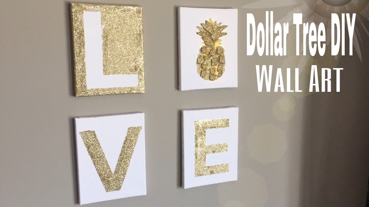 Dollar Tree Wall Art DIY | DIY Bedroom wall decor| DIY ...